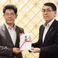 設立50周年を記念し、これまでの地域への感謝として酒田市へ200万円を寄付しました。